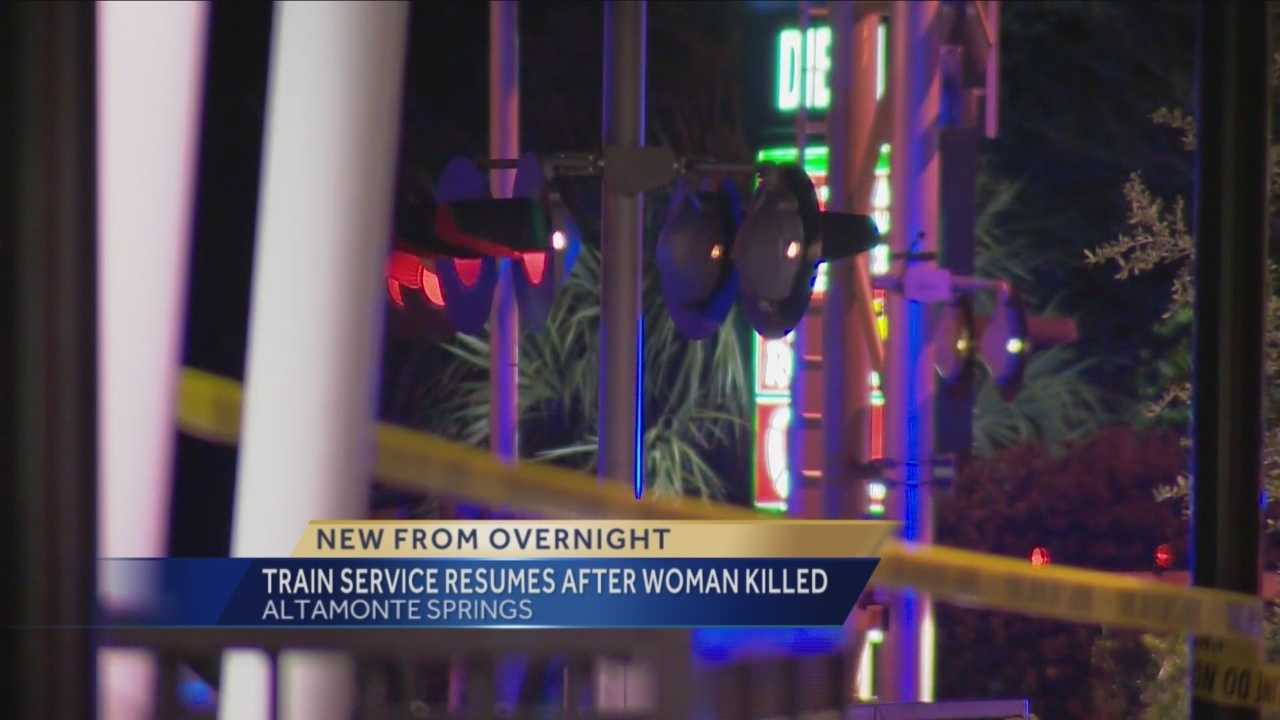 Rail traffic is moving again in Altamonte Springs, where a woman was fatally struck by an Amtrak train Wednesday night.