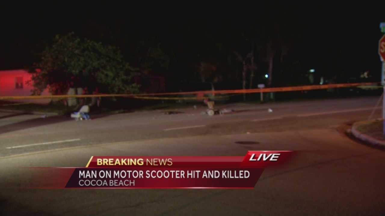 A 75-year-old man was hit and killed by a vehicle driven by a teen in Cocoa Beach, officials said Thursday night. Matt Lupoli has the latest update.