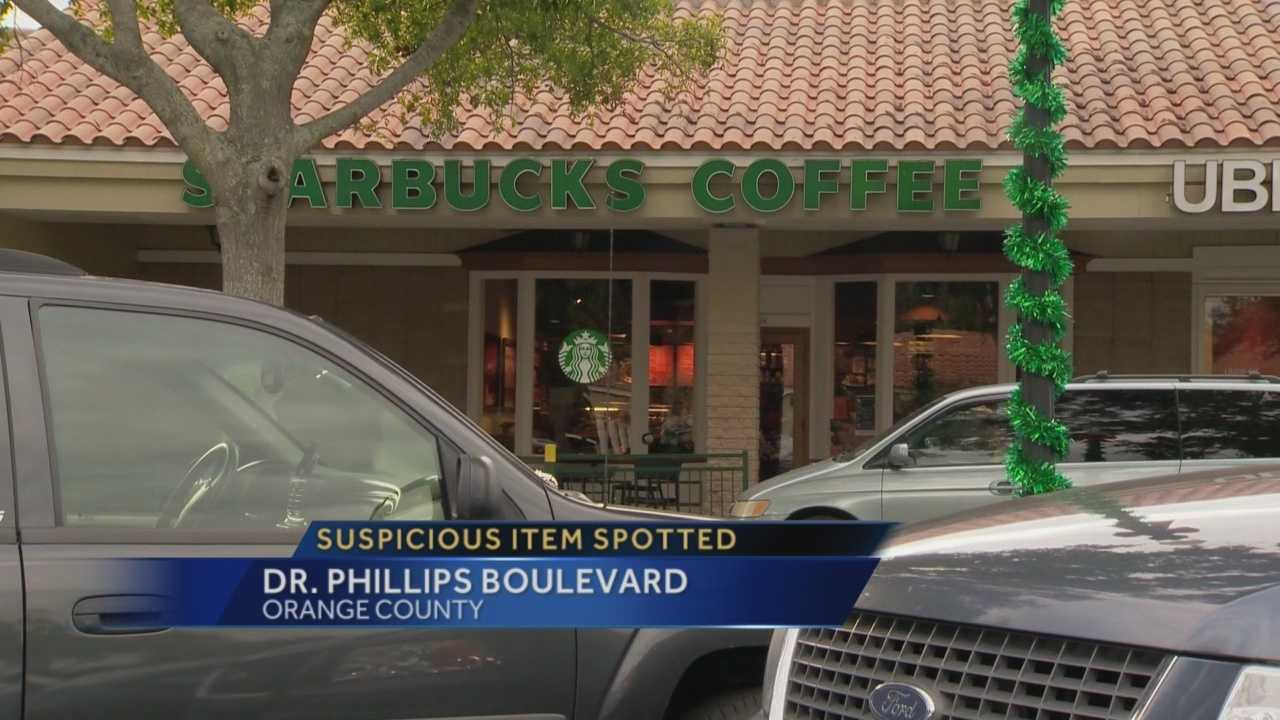 A suspicious item was left outside a shopping complex at 7600 Dr. Phillips Boulevard, according to the Orange County Sheriff's Office. The scene was cleared by the bomb squad shortly before 4 p.m., officials said. Brett Connolly has the latest update.