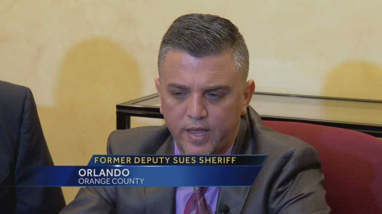 A former Orange County deputy is suing the sheriff's office, alleging discrimination based on his Islamic faith. Greg Fox (@GregFoxWESH) has the story.