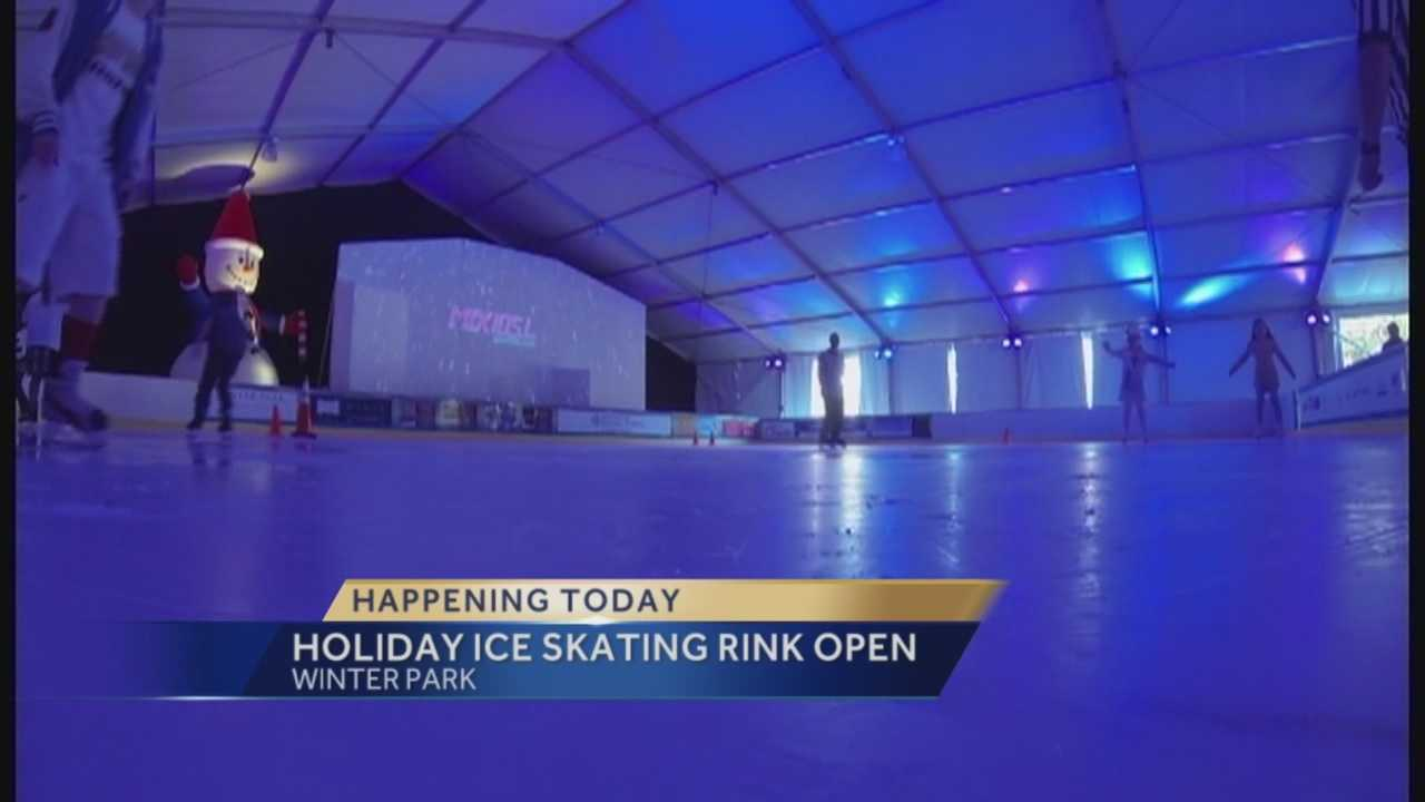 """Winter Park is opening the city's annual holiday ice skating rink. It's part of """"Winter in the Park."""" Guests can also enjoy holiday movies, music and games nearby."""