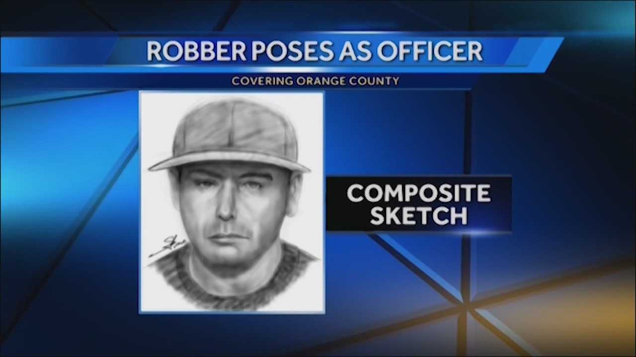 The search is on for a man pretending to be a police officer. Deputies said he used a fake badge to rob a family several days ago in Orange County. Chris Hush (@ChrisHushWESH) has the story.