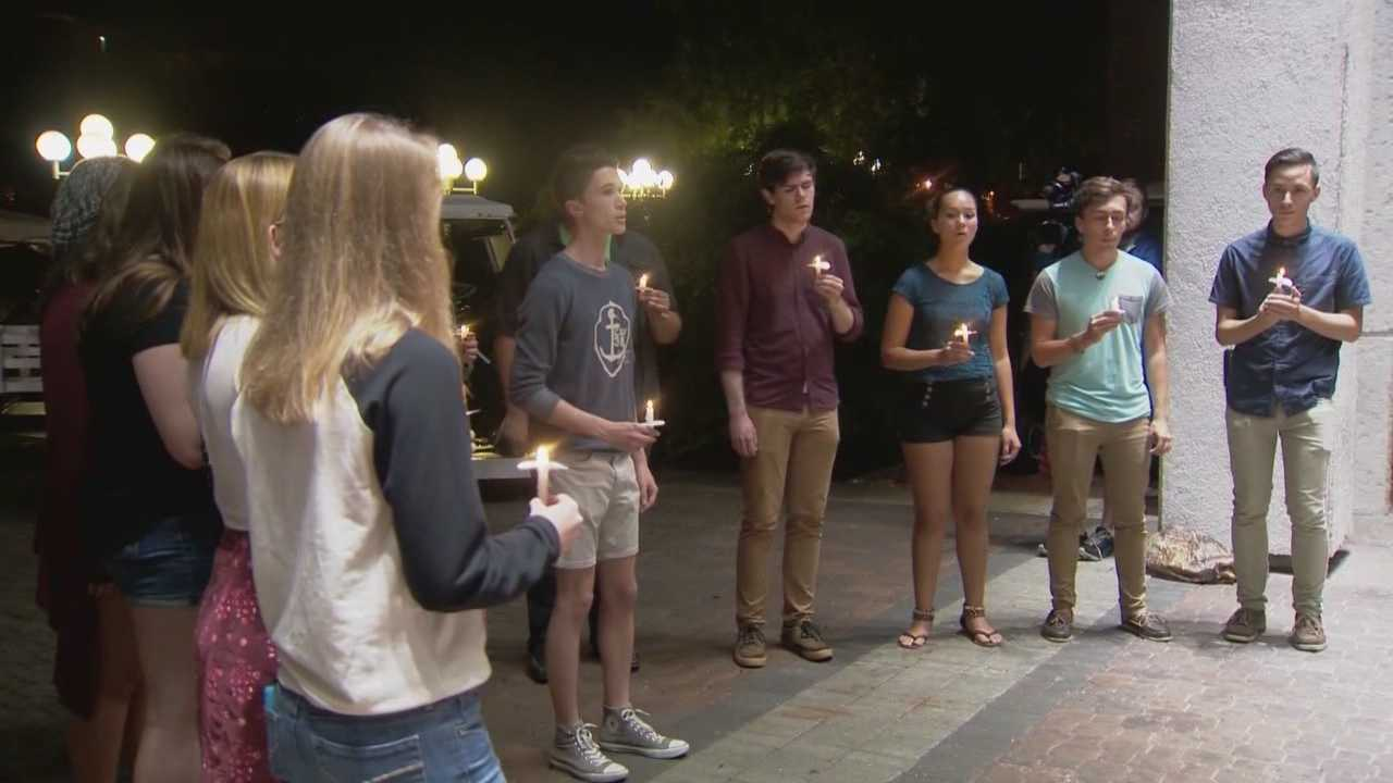 A vigil was held at University of Central Florida to remember the victims of violent attacks around the world. WESH 2's Chris Hush (@ChrisHushWESH) explains how locals paid tribute to those killed.