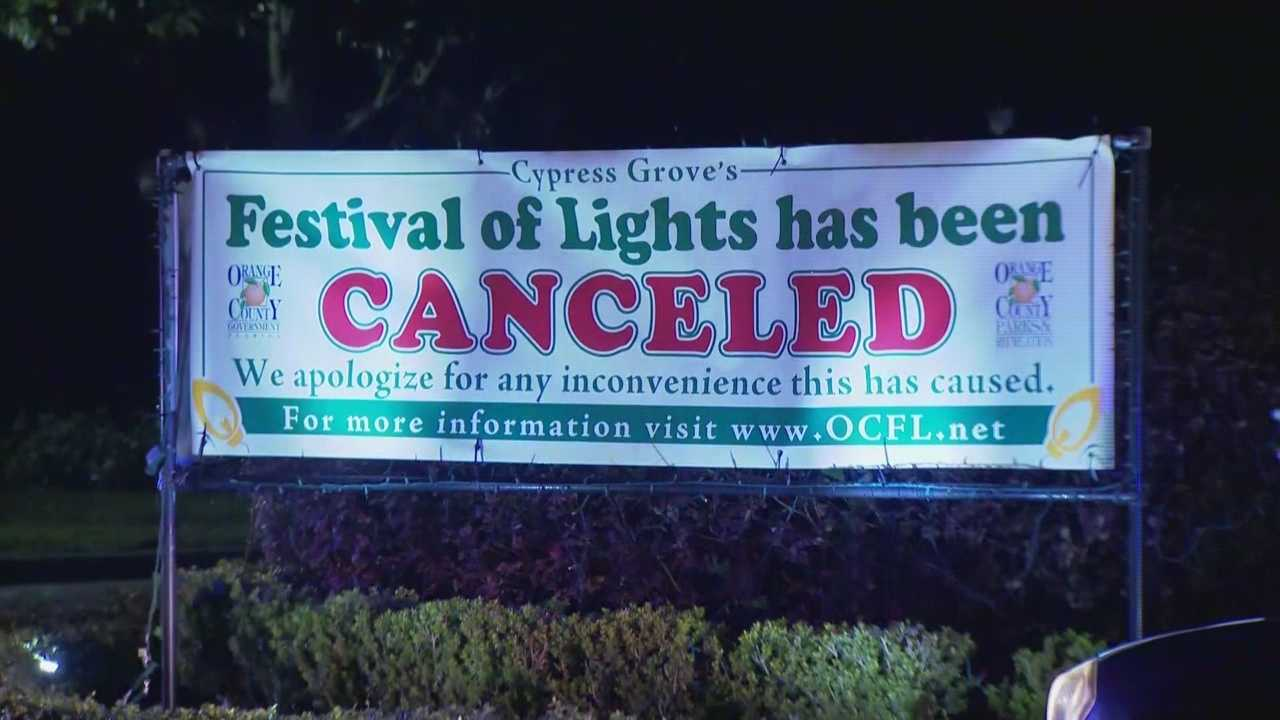 It's the time of year when Central Florida residents can usually get a dose of the holidays without even getting out of their cars. It's called the Festival of Lights -- but this year, it was canceled. Adrian Whitsett has details on why the show will not go on as planned.