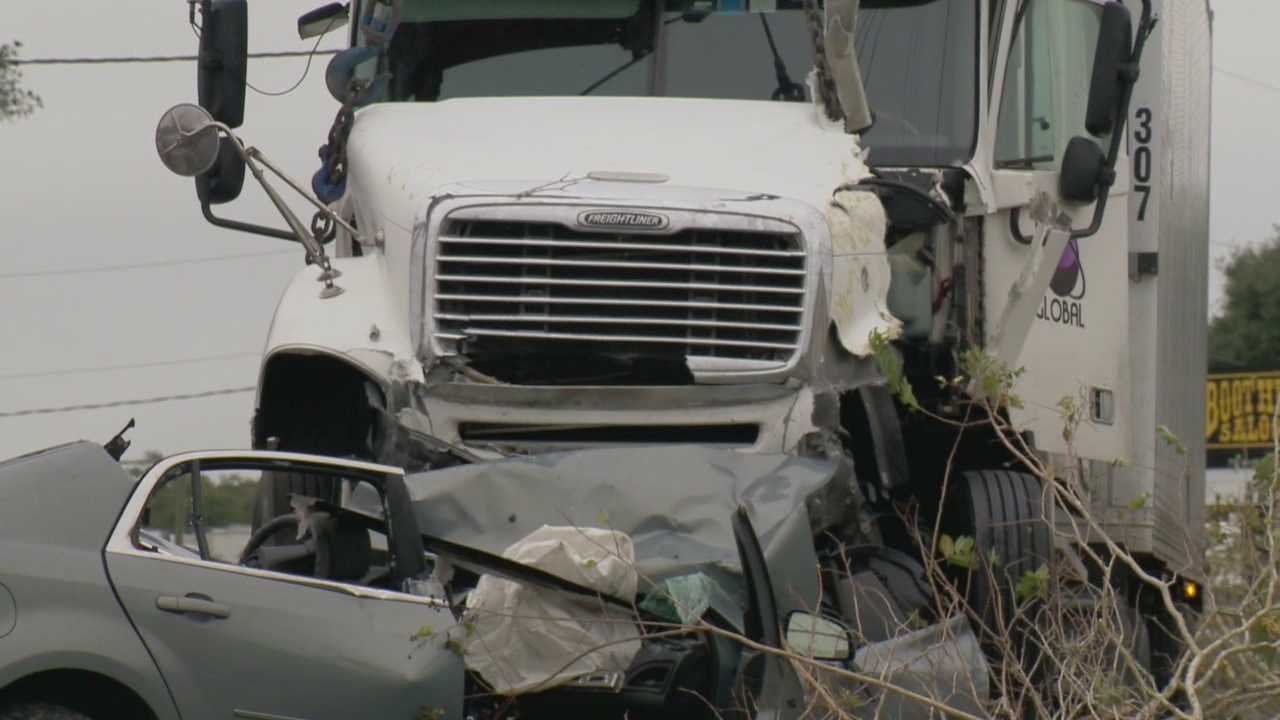 The Florida Highway Patrol says a truck driver got out of his moving vehicle on U.S. 1 before he was run over and killed Monday morning.