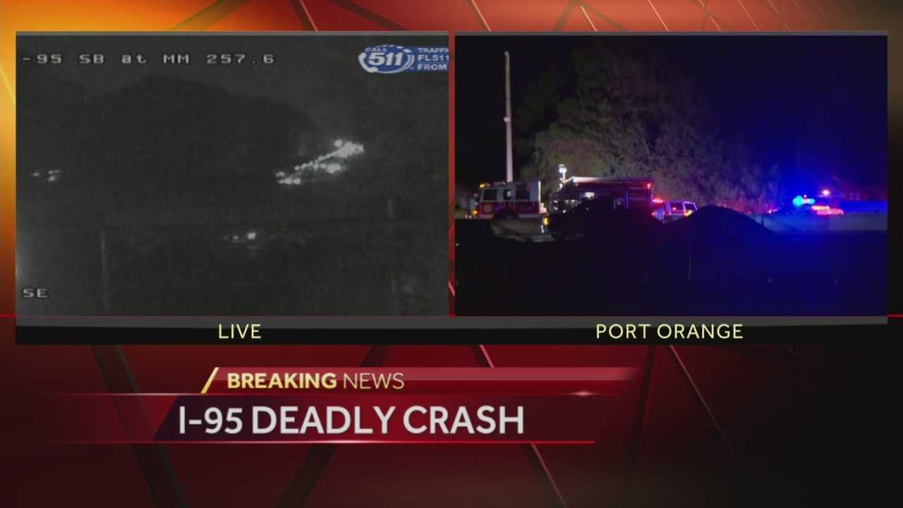 Part of I-95 northbound in Volusia County is shut down after a deadly crash. Traffic was at a standstill for hours on Wednesday. Adrian Whitsett (@AdrianWhitsett) has the latest update.