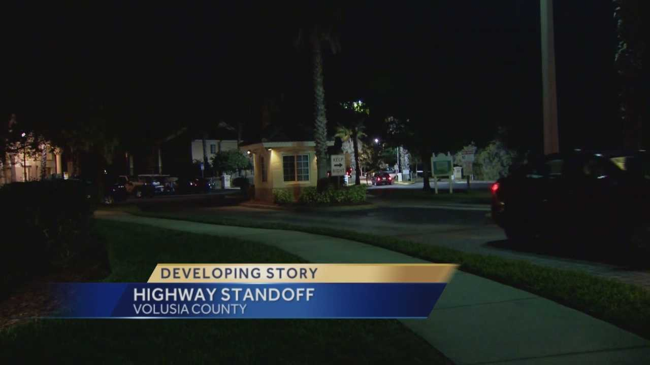 A man handcuffed his girlfriend, beat her, then took his own life on a busy interstate in a standoff with SWAT. It all started at an apartment complex in Ormond Beach, with a domestic dispute. Chris Hush (@ChrisHushWESH) has the story.