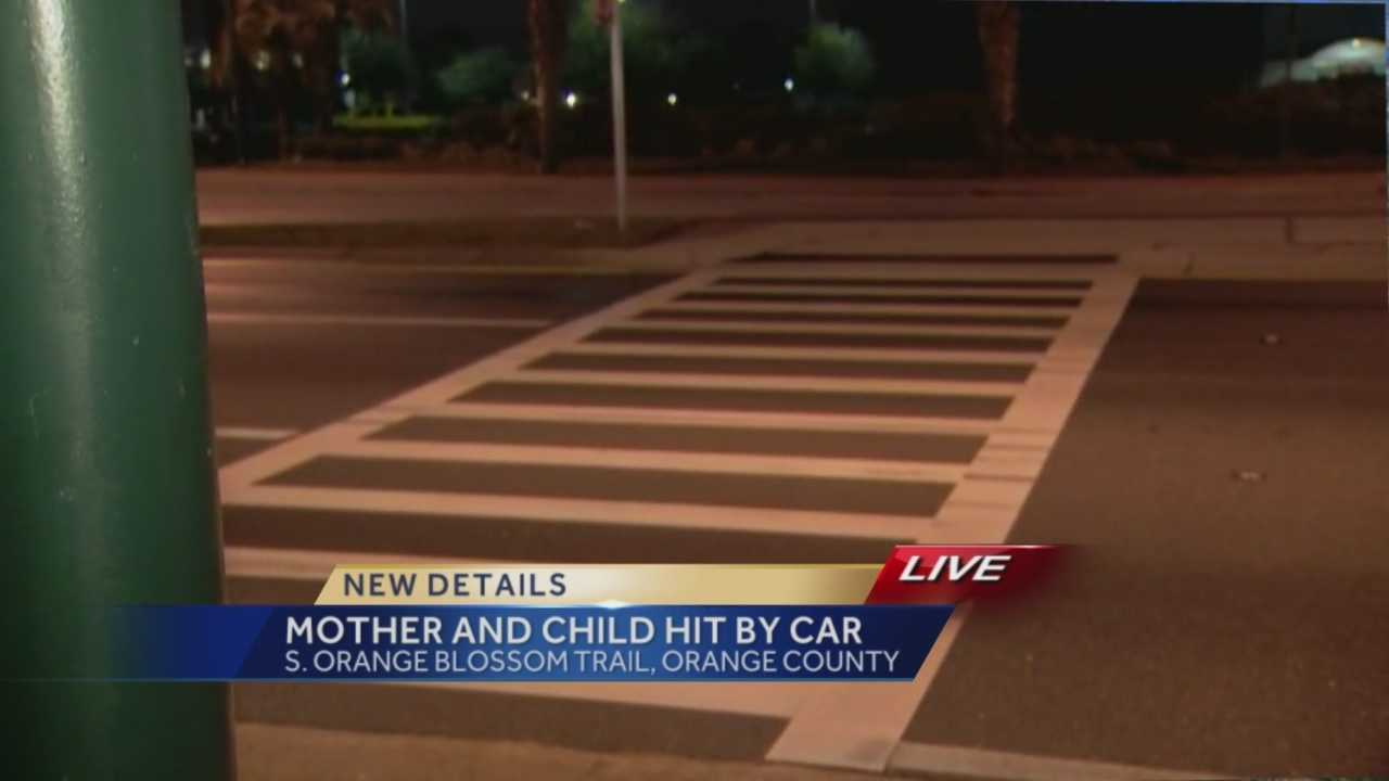 A mother and her 3-year-old child were rushed to the hospital after they were hit by a car while walking in the crosswalk along South Orange Blossom Trail at Holden Avenue. Chris Hush (@ChrisHushWESH) has the latest update.