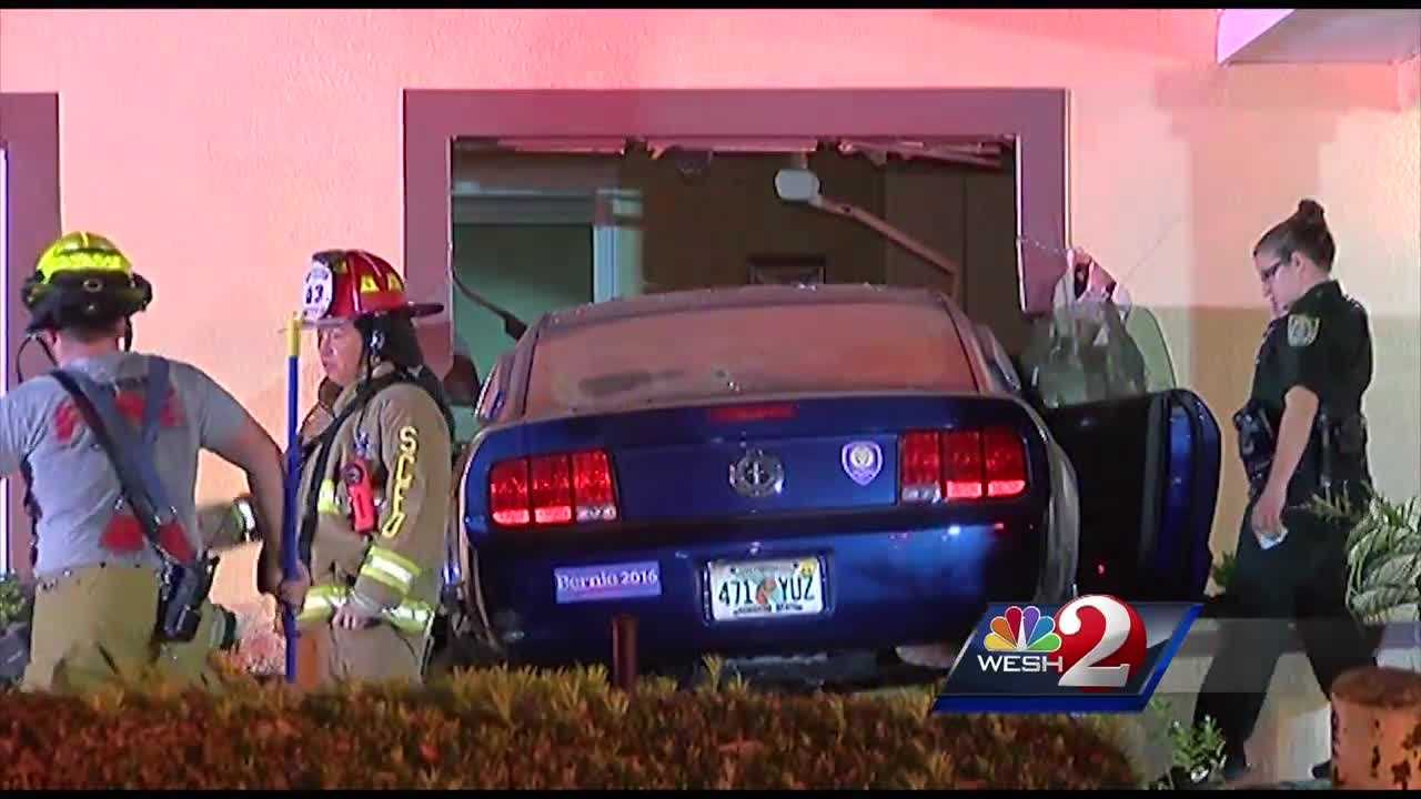Cleanup is underway at an Apopka dentist's office after an overnight crash.