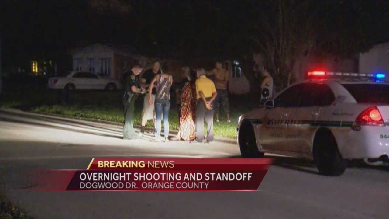 Six people are being questioned after a 26-year-old shooting victim showed up at the Florida Highway Patrol office overnight.