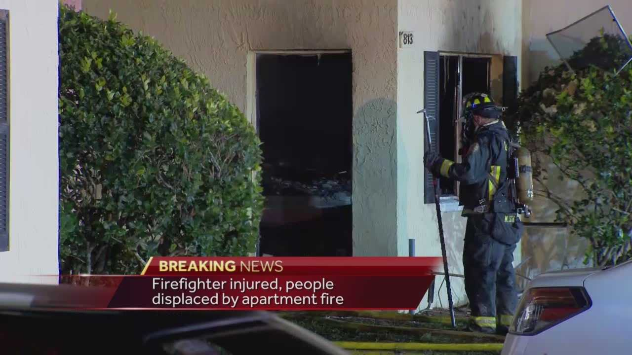 At least 10 adults and one child were displaced in an apartment fire in Orlando. It happened at the Pacifico Apartments on Shenandoah Way. One firefighter was injured, but is expected to make a full recovery. Chris Hush (@ChrisHushWESH) has the latest update.