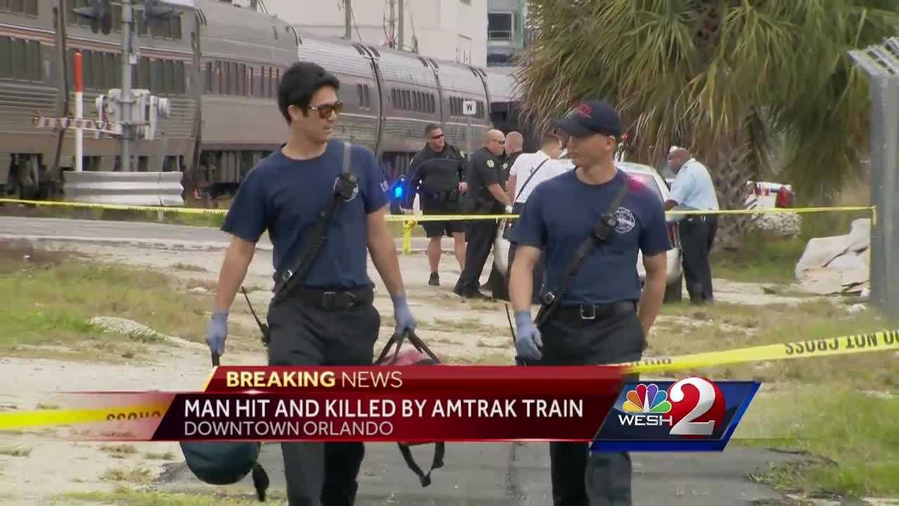 Pedestrian hit and killed by Amtrak train in Downtown Orlando