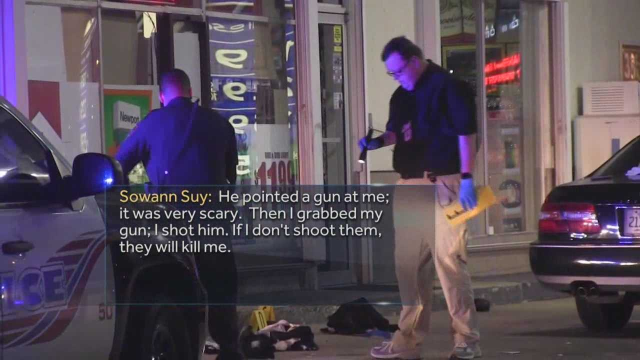 A Brevard County store owner defended his business with a gun, and it's not the first time. It's the fourth time that the owner of the Chevron station has opened fire on a crook. Dan Billow (@DanBillowWESH) has the latest update.