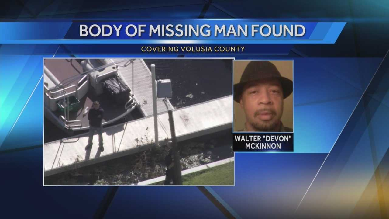 The Volusia County Sheriff's Office is investigating after a body was found in the St. Johns River in DeBary near a fishing dock on Friday, according to the sheriff's office. The victim was identified as Walter McKinnon, 42. McKinnon was reported missing on Monday, according to officials. Stewart Moore reports.