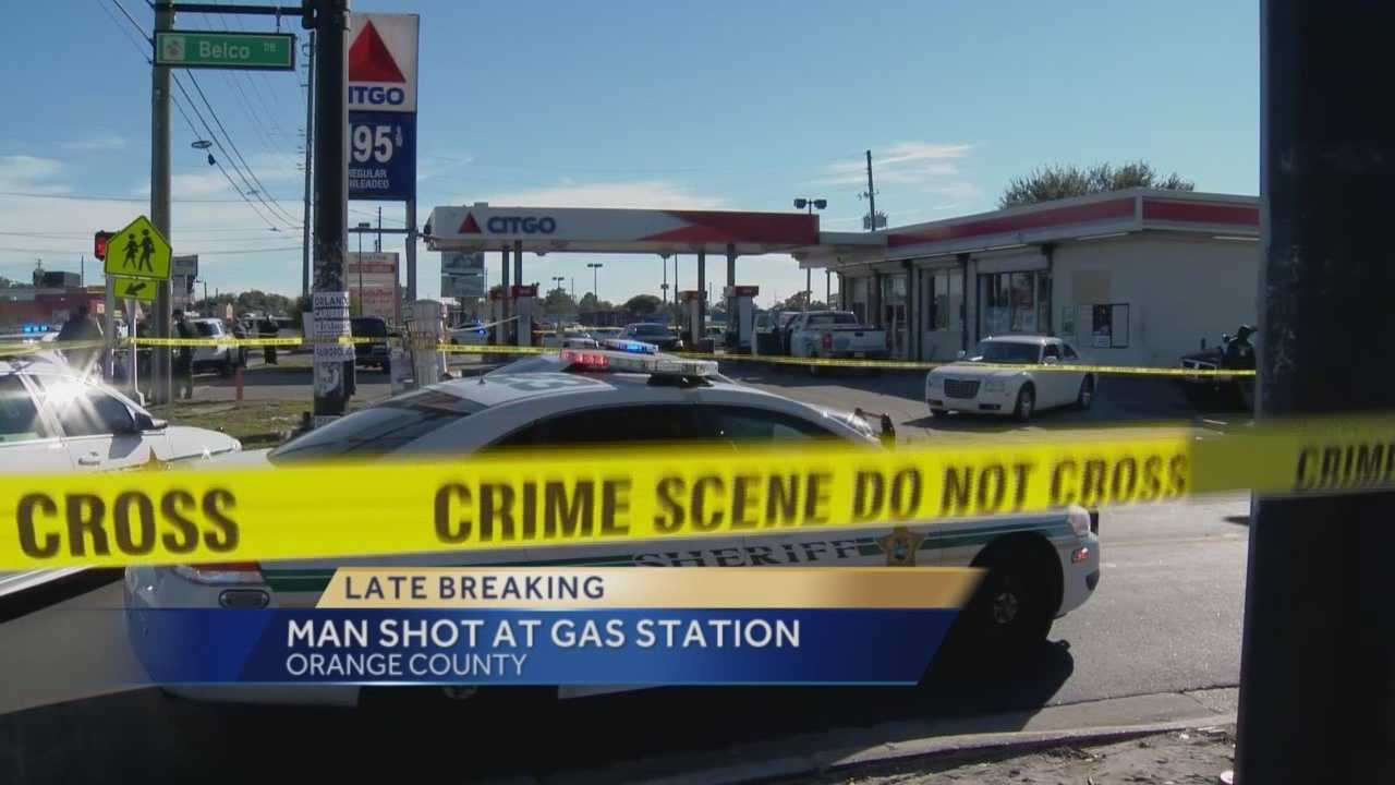 Police are investigating after a man was shot at a gas station on Pine Hills Road. Four schools were placed on lockdown due to the incident, according to Lorena Hitchcock with Orange County Public Schools. Gail Paschall-Brown (@gpbwesh) has the latest update.
