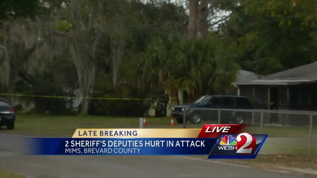 Two sheriff's deputies were hurt during an attack in Mims, and one had to be airlifted to the hospital. The pair was responding to a domestic disturbance call at a home on Pineapple Avenue, near State Road 46 and U.S. 1. WESH 2's Matt Grant (@MattGrantWESH) has the latest update.