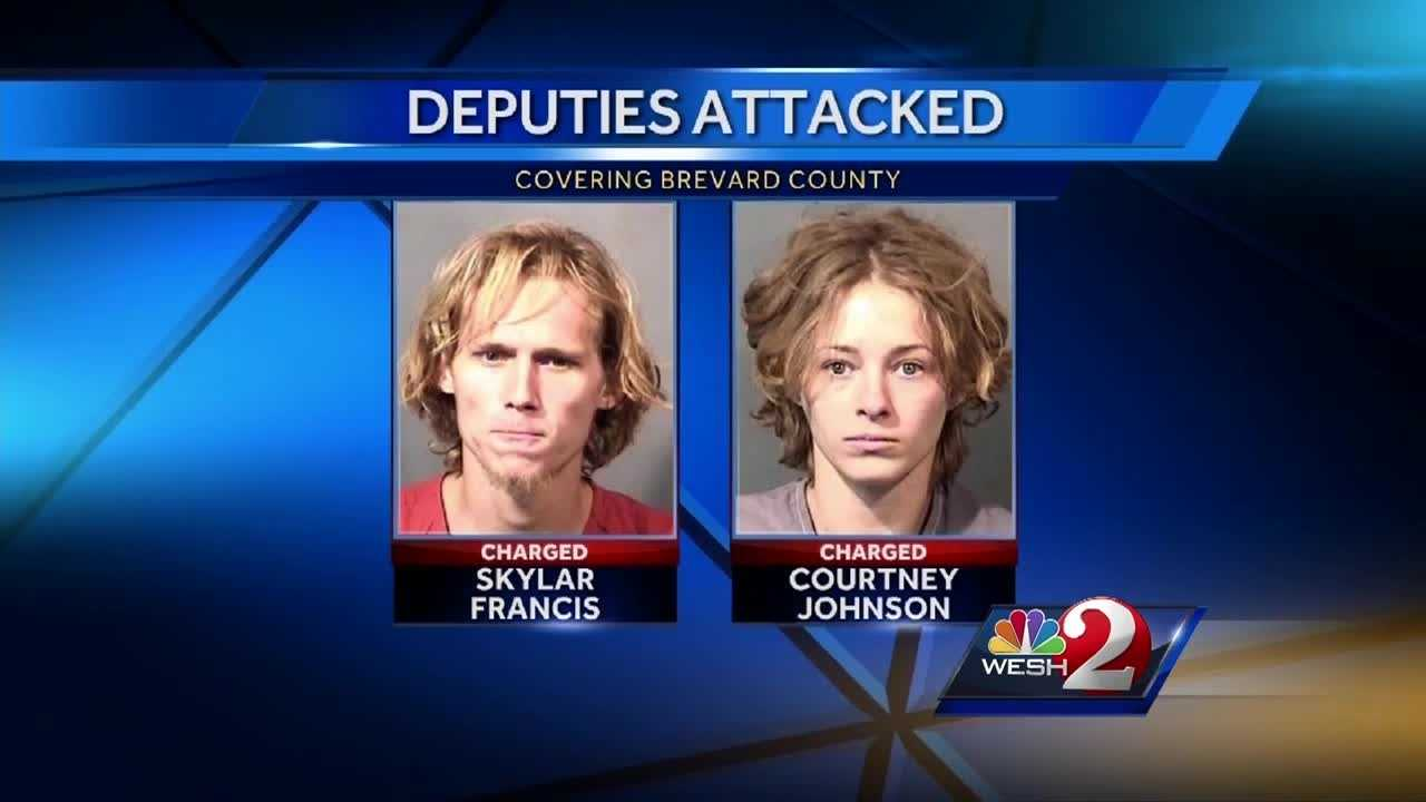 The beatings of two Brevard County sheriff's deputies were recorded from the Brevard County sheriff's radio, officials said Wednesday. The man accused in the beatings appeared in court and was ordered to be held without bond. Dan Billow (@DanBillowWESH) has the story.