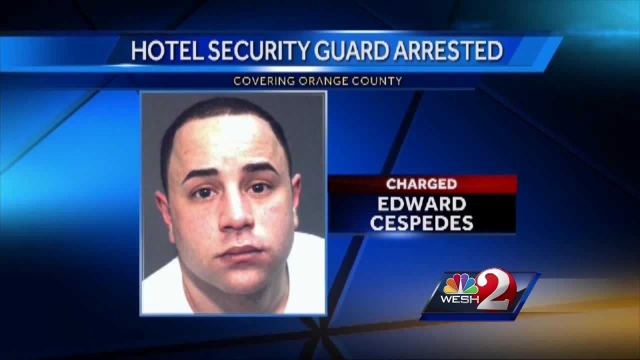A sting to catch a hotel thief lands a local security guard in jail. Deputies say they caught Edward Cespedes stealing from the very Disney-area hotel he was supposed to be guarding. Chris Hush (@ChrisHushWESH) has the story.