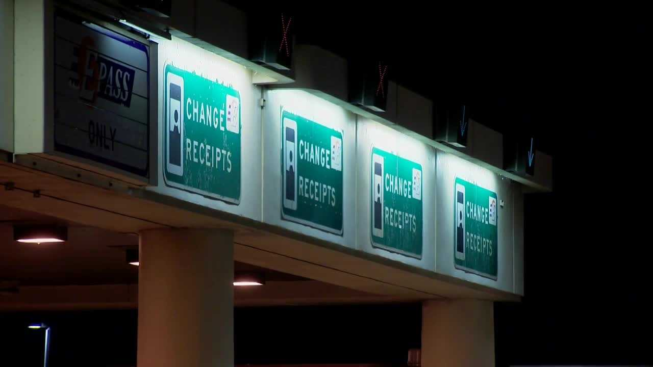 After years of complaints about the messy traffic backups it creates, the airport toll-plaza is set to be demolished.