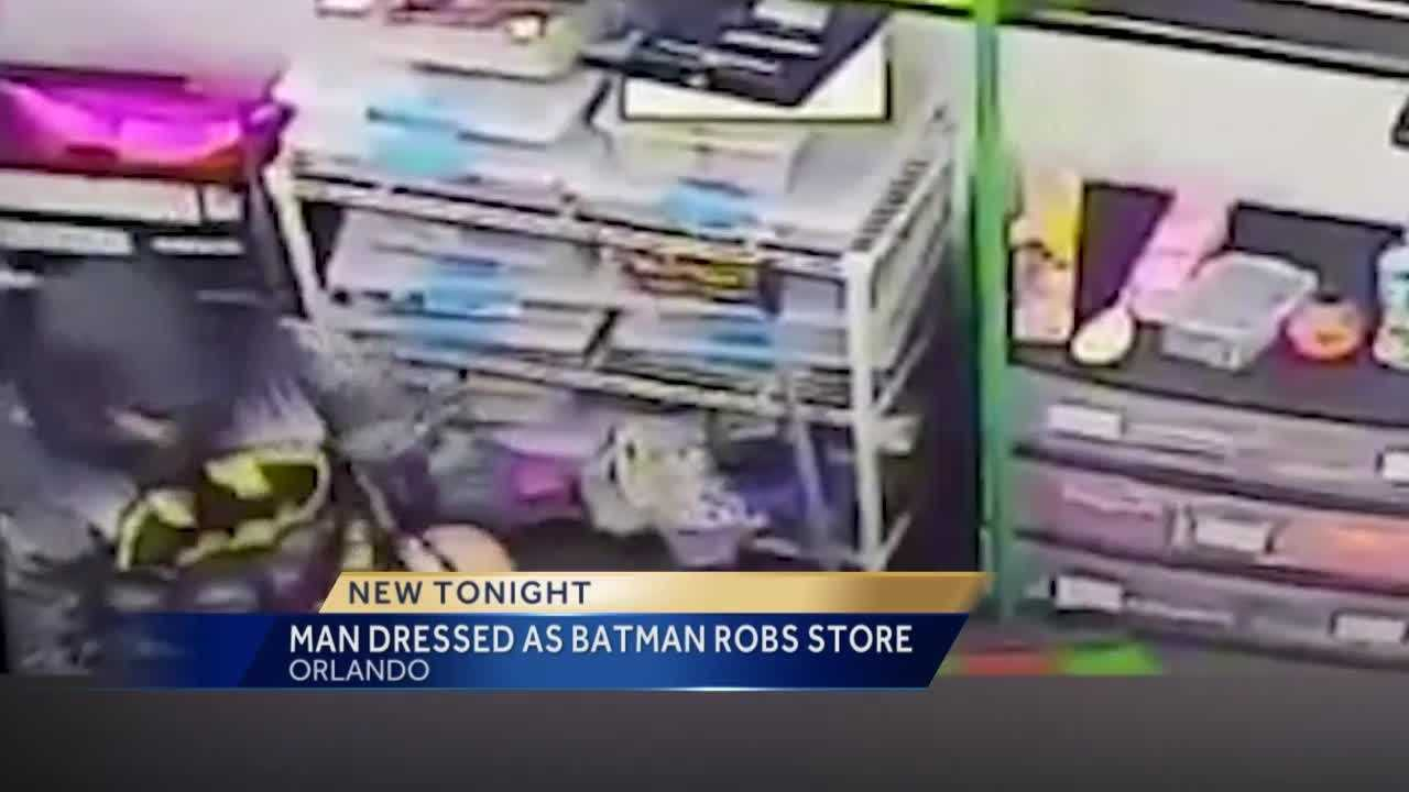 Orange County authorities are searching for a man they say dressed up as Batman and robbed two dollar stores Tuesday night. Summer Knowles has the latest update.