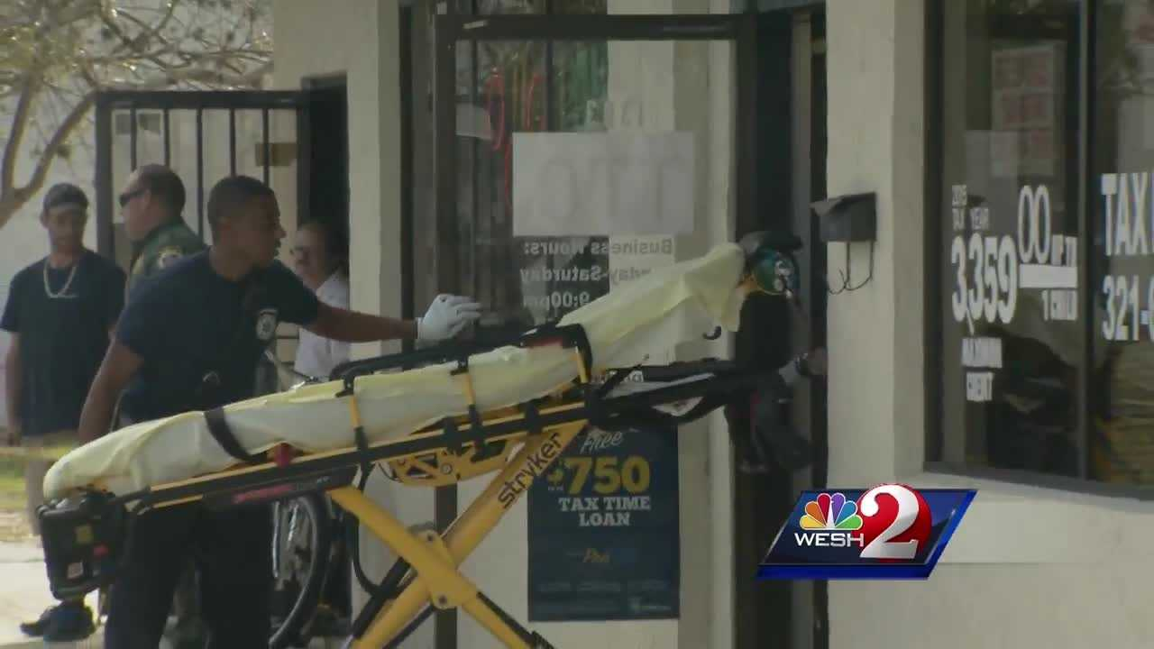 Three people were hospitalized Wednesday when a man fired gunshots inside a Cocoa tax office.