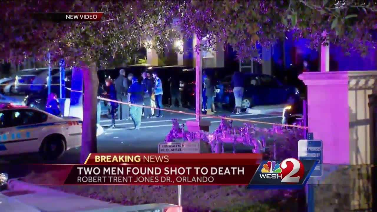 Orlando police say two men were found shot to death inside in the MetroWest area.