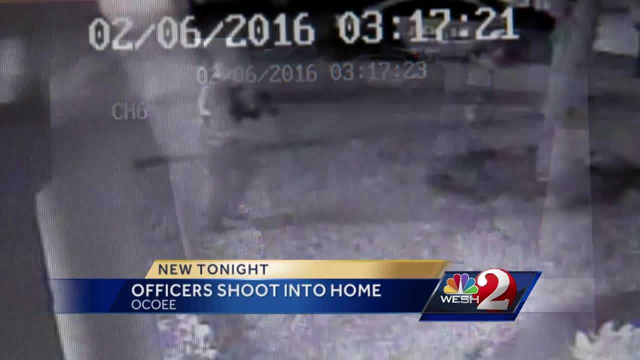 Ocoee police shot into a house in the middle of the night, but the man who lives there said they showed up to the wrong home. Surveillance video obtained by WESH 2 News shows officers rushing to the home. Chris Hush (@ChrisHushWESH) has the story.