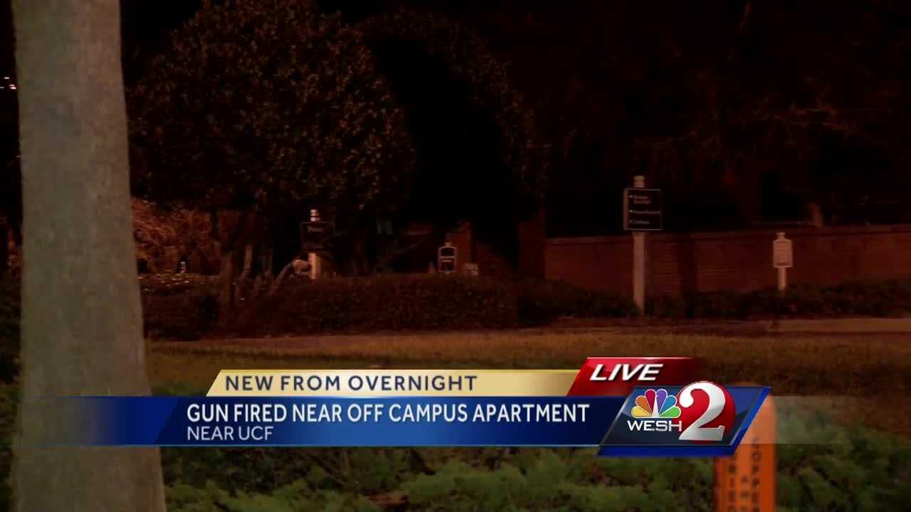 An apartment complex near the University of Central Florida became the center of an investigation overnight.