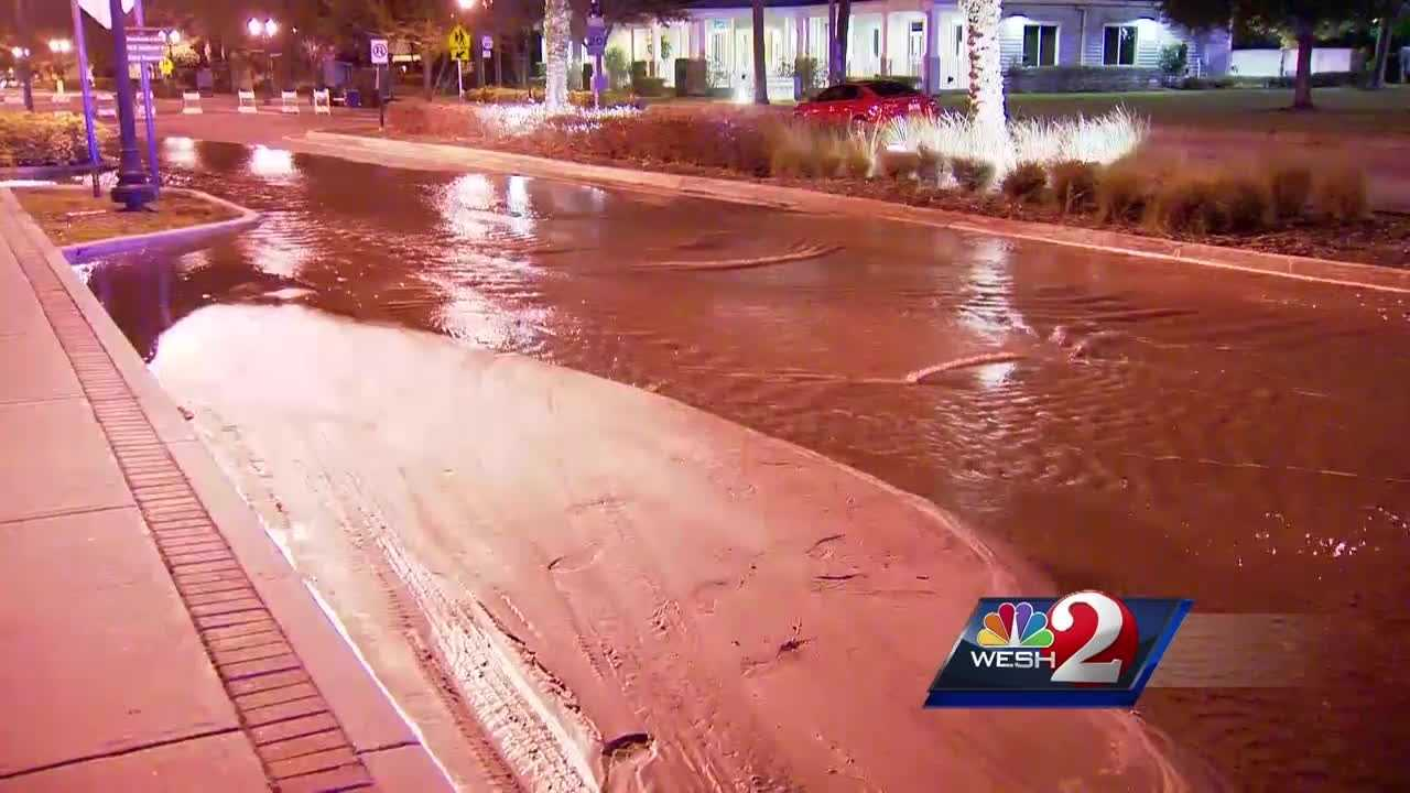 A precautionary boil water notice has been issued as crews are work to fix a water main break that had water gushing onto Kennedy Boulevard in Eatonville Wednesday morning.