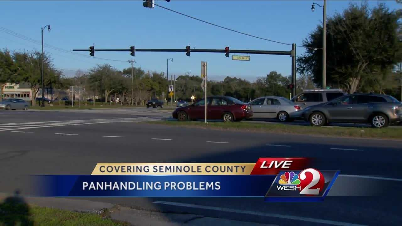 Seminole County deputies are keeping a watchful eye on what they're calling aggressive panhandling. Officials have seen an increase in arrests of people accused of violating the county's ordinance that prohibits aggressive soliciting. Dave McDaniel reports.