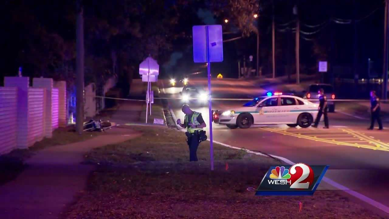 The driver of a motorcycle that struck and killed a pedestrian on Powers Drive on Saturday night has died from injuries suffered in the crash.