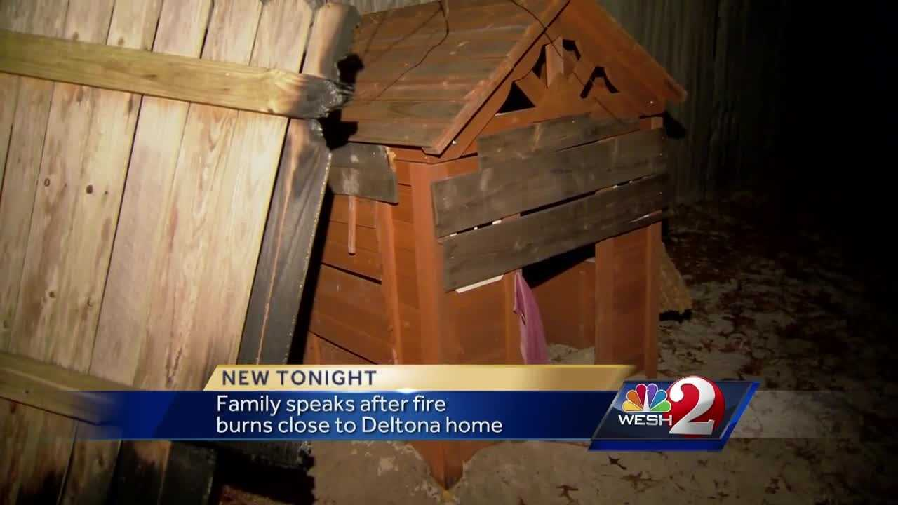 A Deltona family is thankful after firefighters made quick work of a small brush fire reached their property line Tuesday evening. Matt Lupoli reports.