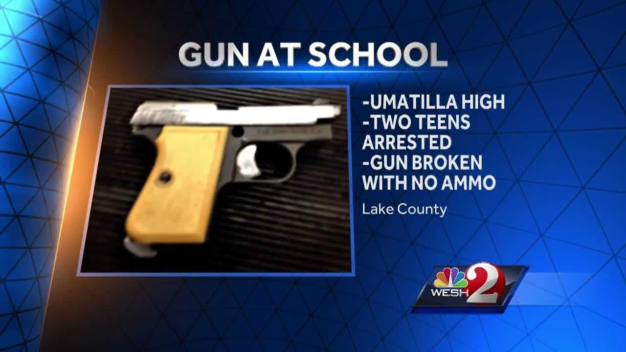 A gun was found at a Lake County high school and two teens are facing charges. Angela Taylor reports.