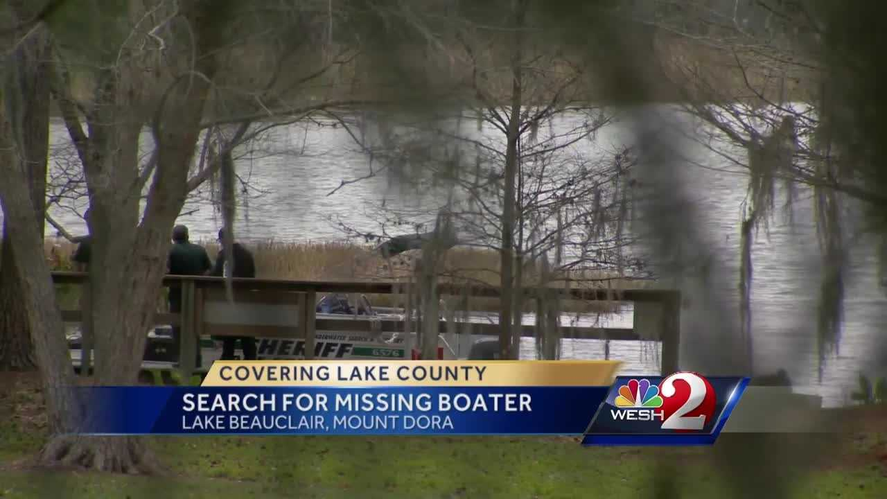 A search for a missing boater on Lake Beauclair, near Mount Dora resumed Thursday morning.