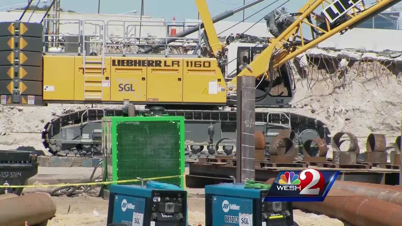 All work on the I-4 Ultimate project is on hold because of a worker's death at a construction site on Wednesday.