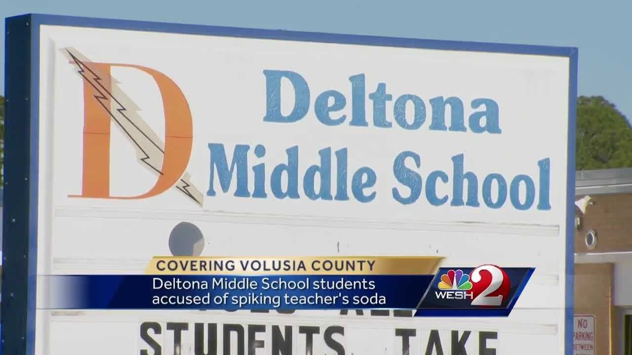 Three Deltona Middle School students are facing criminal charges for allegedly spiking a soda with spicy hot pepper that sickened their teacher. WESH 2 News Reporter Matt Grant has the story.