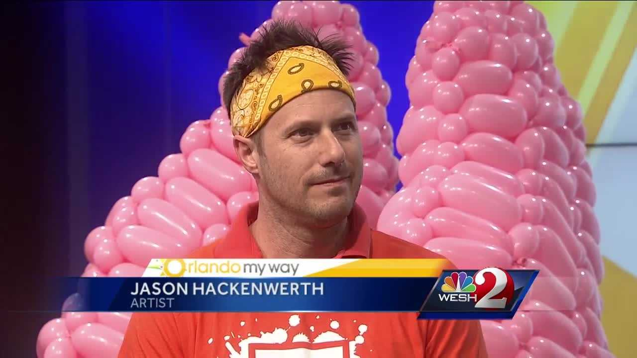 Balloon artist Jason Hackenwerth