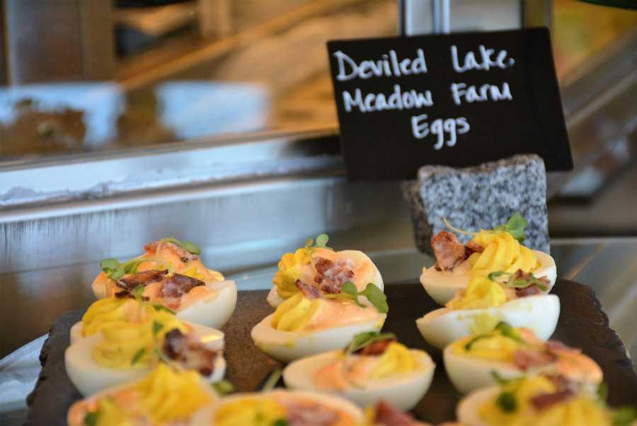 Deviled Lake Meadow Farm Eggs at California Grill