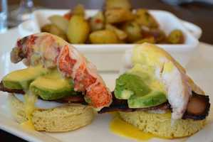 Poached Lobster Benedict at the California Grill.