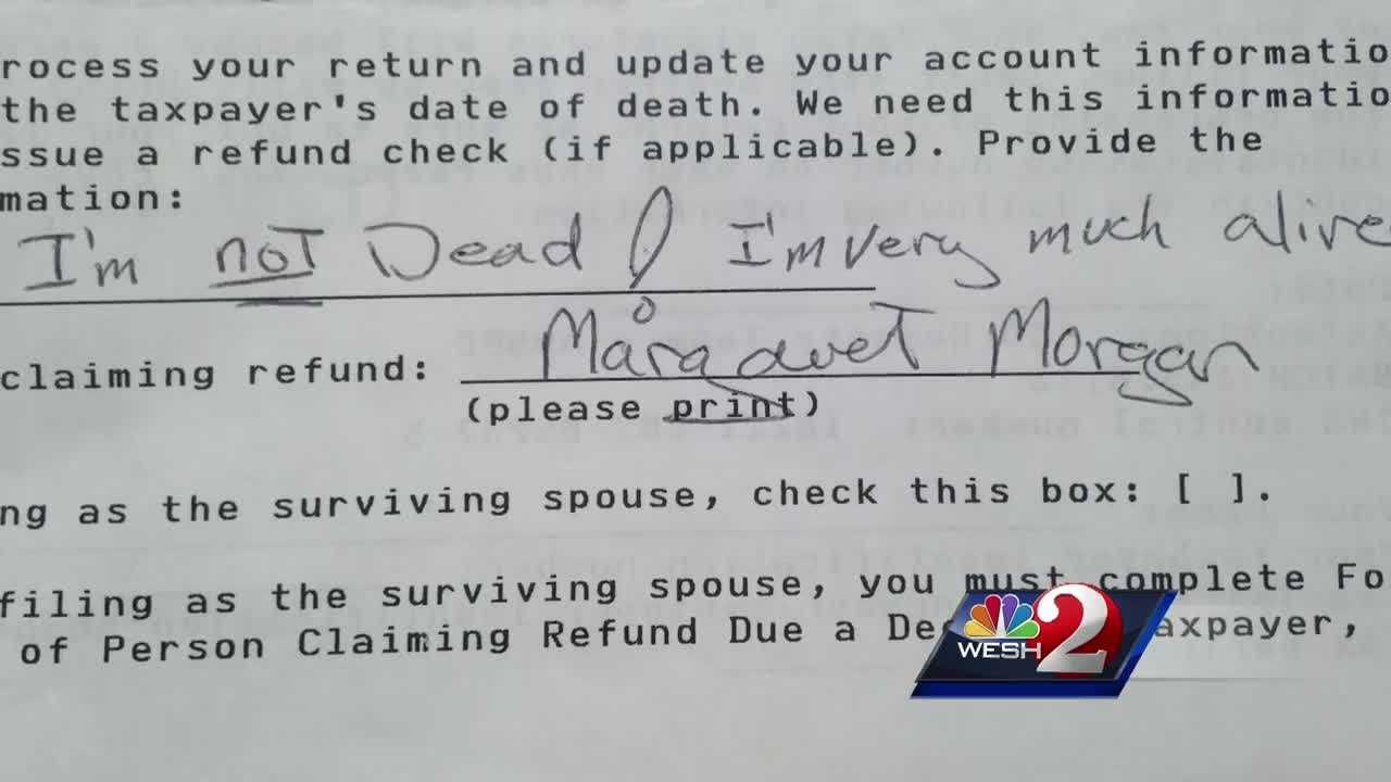 Despite being very much alive an Orlando woman is trying to prove to the government that she's not dead. WESH 2 News Reporter Matt Grant has the story.