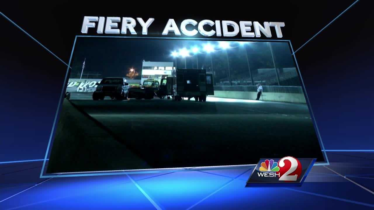 A man was burned after an accident at Orlando Speed World Dragway Thursday night. WESH 2 News has learned a medical chopper was requested, but never came. Bob Kealing @bobkealingwesh) found out why the victim had to be driven nearly 20 miles by ambulance instead.