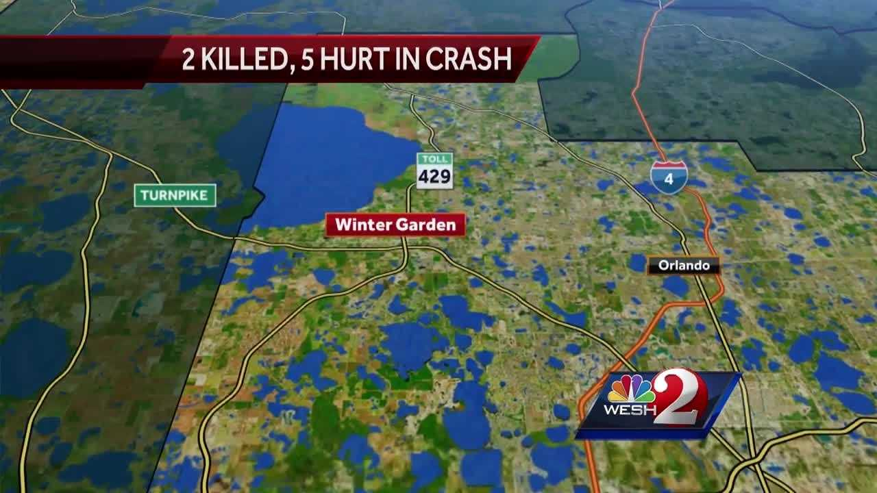 Two people are dead and five injured after a crash in Winter Garden on Friday night.
