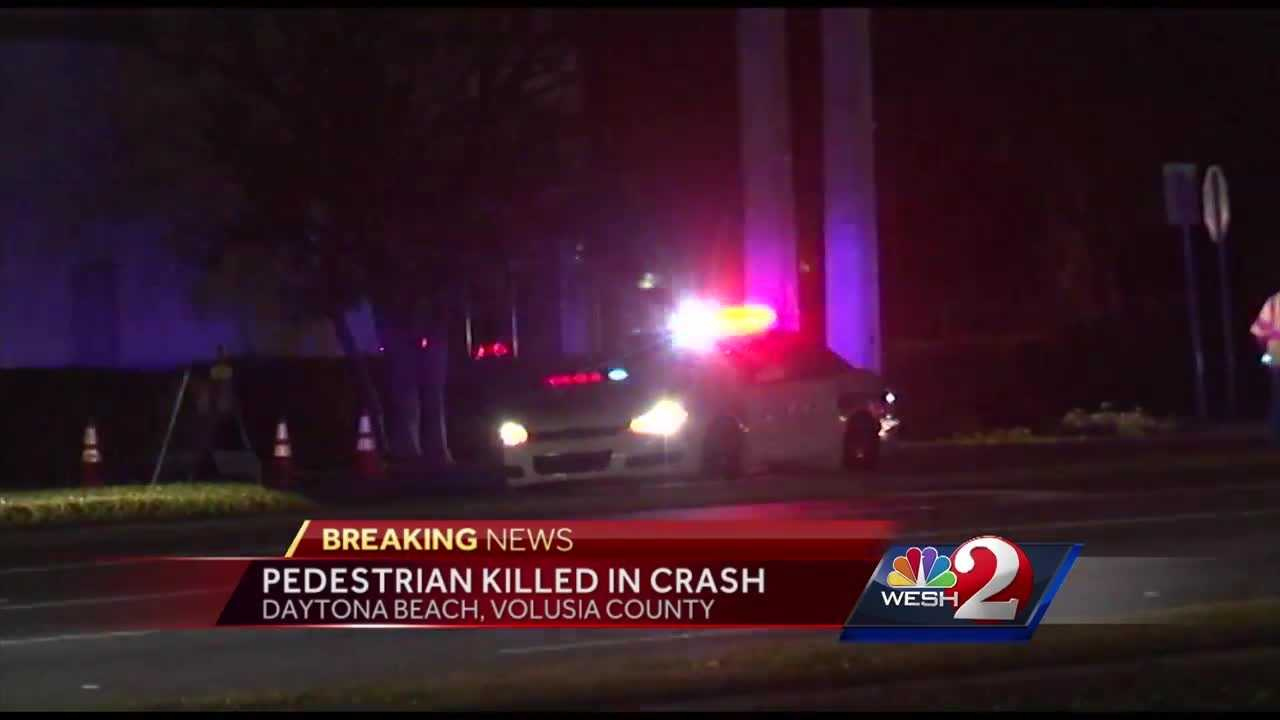 A pedestrian has died after being struck by a car in Daytona Beach Sunday night, authorities said.