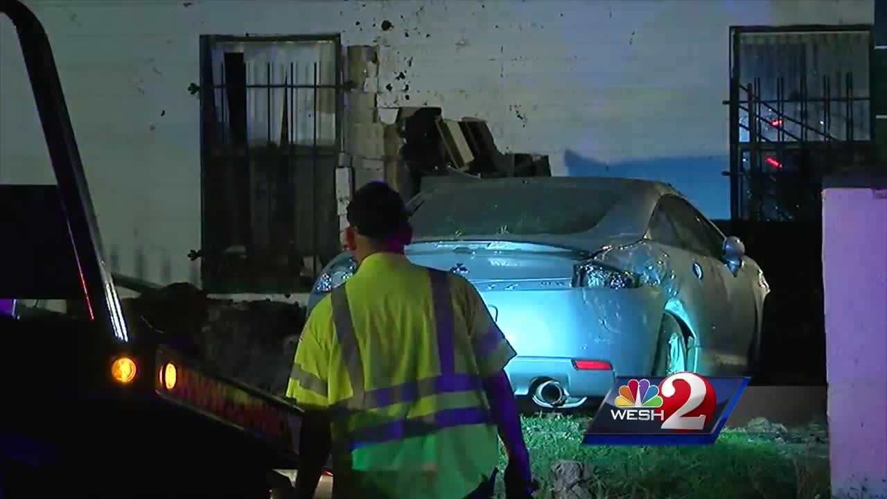 The driver of a stolen vehicle loses control and ends up inside a house overnight.