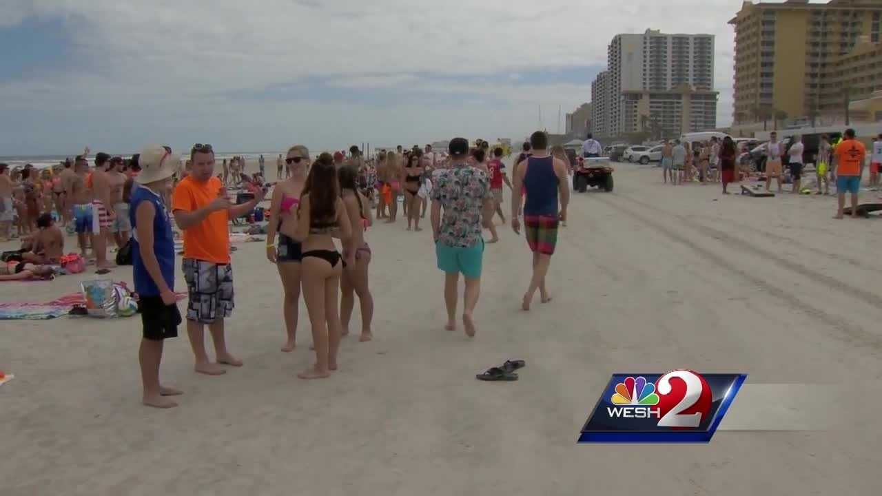 "Thousands of college students are at ""the world's most famous beach"" right now -- for a spring break party. However, are WESH 2's Claire Metz reports, it's a party the city is not promoting."