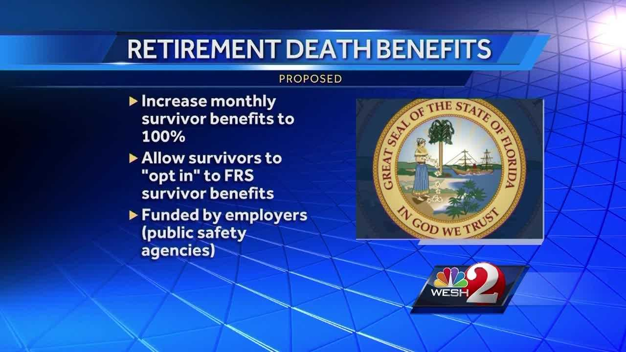 Legislation passed by lawmakers would provide new pension benefits to the survivors of fallen first responders. The wife of a slain local deputy is pleading with the governor of Florida, to sign a bill that's now on his desk. Greg Fox (@GregFoxWESH) has the latest update.
