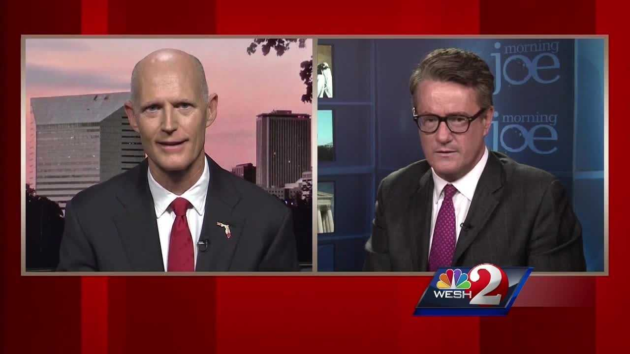 Gov. Rick Scott is under fire tonight. During a nationally televised interview, he refused to say whether or not he believes all Muslims hate America. Despite being asked multiple times, the governor would not answer the question. Matt Grant (@MattGrantWESH) has the story.