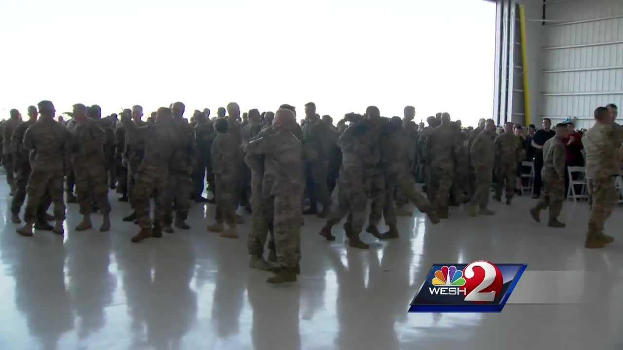 About 130 National Guard soldiers made it home to their families after serving in Afghanistan on a 9-month deployment. Matt Lupoli was there for the happy homecoming.