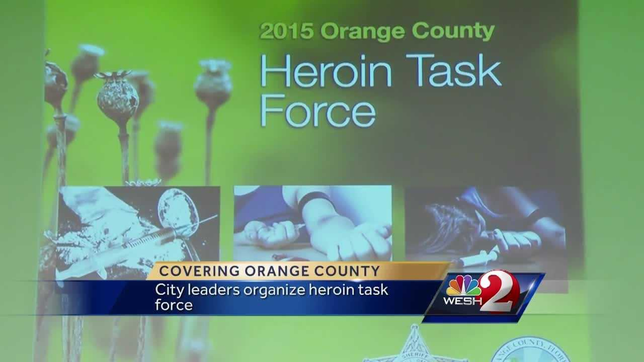 The heroin epidemic that's striking the nation is also affecting Central Florida. City and county leaders have put together a heroin task force. The team delivered its findings on Monday. Michelle Meredith reports.