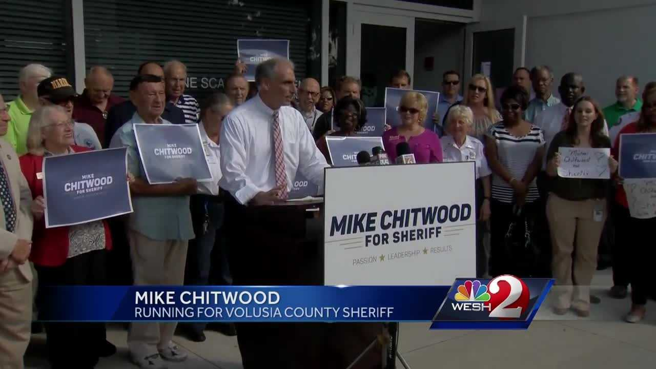 Daytona Beach police Chief Mike Chitwood has announced he will run for Volusia County sheriff. WESH 2's Gail Paschall-Brown (@gpbwesh) spoke with Chitwood about his new bid for the job.